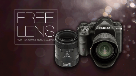 Free Lens with selected Pentax DSLR Cameras